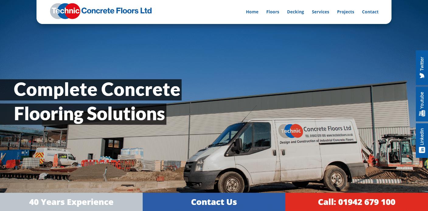 Technic Concrete Floors Case Study Construction Website